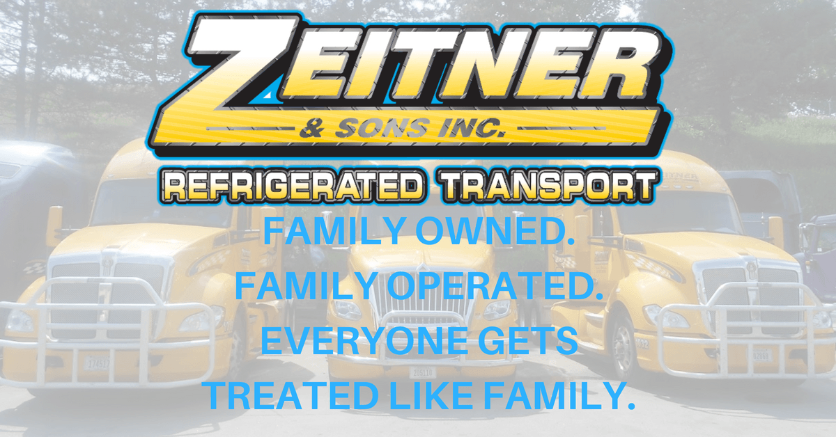 Zeitner & Sons Inc. is looking for truck drivers.